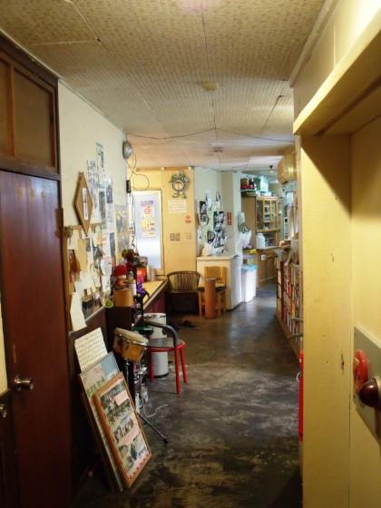 Bohemiškas hostelio vidus